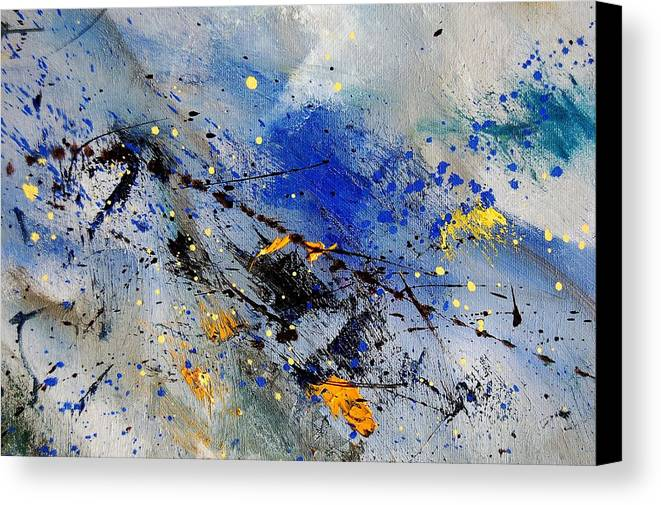 Abstract Canvas Print featuring the painting Abstract 969090 by Pol Ledent