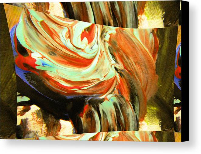 Abstract Canvas Print featuring the photograph Abstract Whirls Within A Window by Jeff Swan