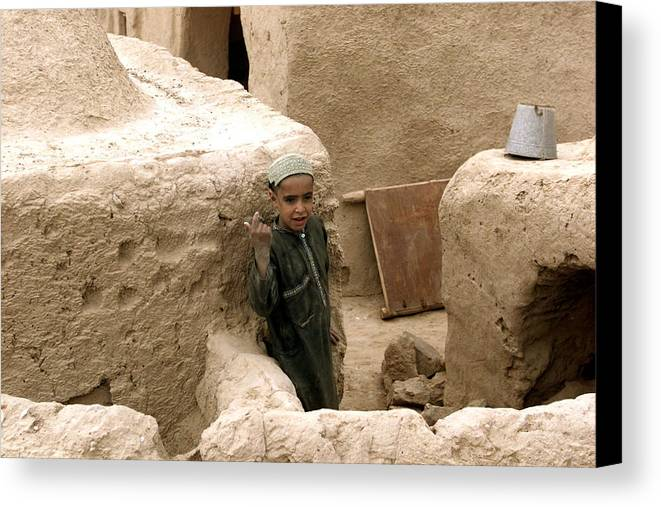 Afghanistan Canvas Print featuring the photograph Afghan Child by Thomas Michael Corcoran