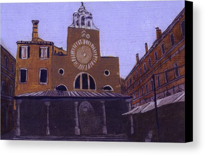 Landscape Canvas Print featuring the painting After Campo San Giacometto by Hyper - Canaletto