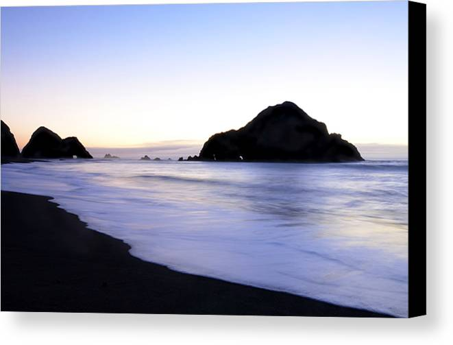 Elk Beach Canvas Print featuring the photograph After Glow At Elk Beach 1 by Bob Christopher