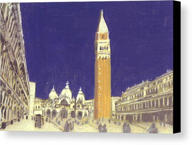 Landscape Canvas Print featuring the painting After St. Mark's Square Towards The Basilica by Hyper - Canaletto
