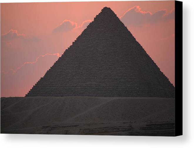 Pyramid Canvas Print featuring the photograph After Sundown by Donna Corless