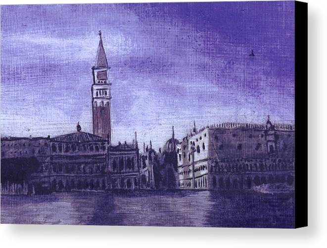 Landscape Canvas Print featuring the painting After The Pier At San Marco by Hyper - Canaletto