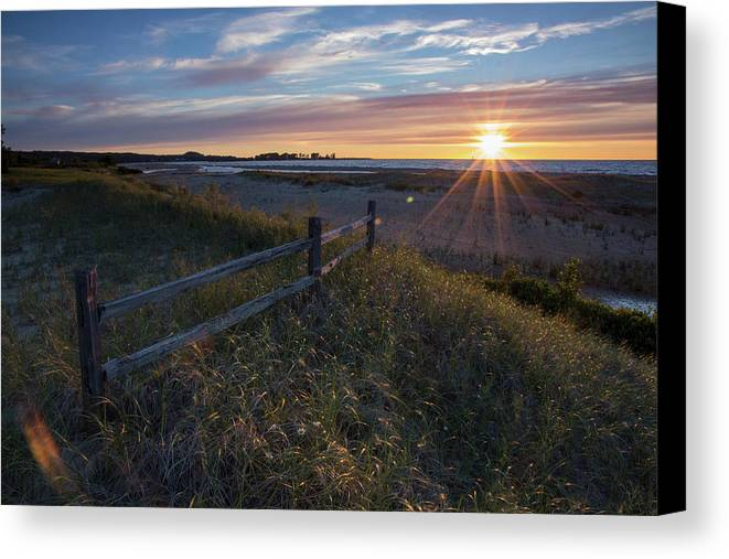 Sunset Canvas Print featuring the photograph Aglow by Lee and Michael Beek