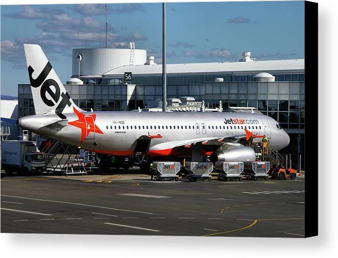 Airbus Canvas Print featuring the photograph Airbus A320-232 by Tim Beach