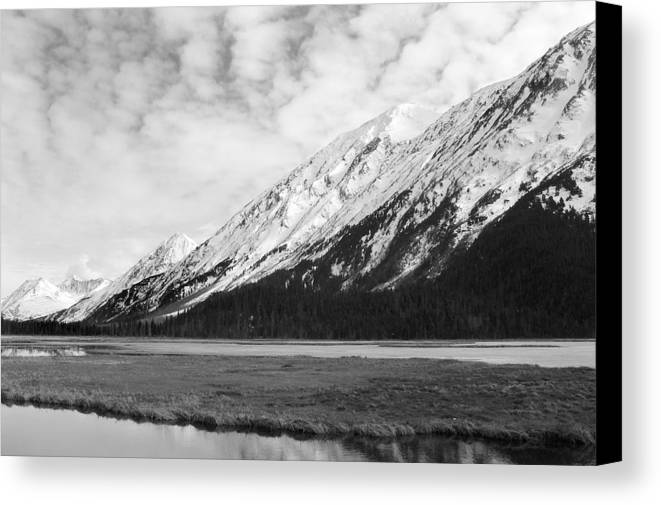 Mountains Canvas Print featuring the photograph Alaska Mountains by Ty Nichols
