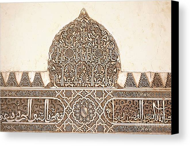 Alhambra Canvas Print featuring the photograph Alhambra Relief by Jane Rix