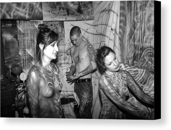 Body Paint Canvas Print featuring the photograph Alien Transformation by Leigh Odom