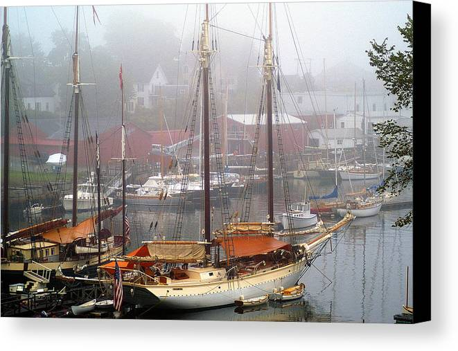 Boats Canvas Print featuring the photograph All Dressed Up...nowhere To Go by Neil Doren