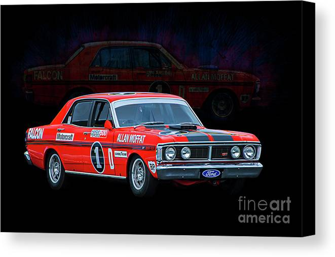 Ford Canvas Print Featuring The Photograph Allan Moffat Ford Falcon Xy Gtho Phase Iii By Stuart