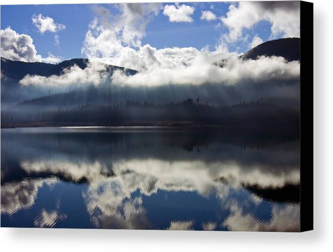 Heavenly Light Canvas Print featuring the photograph Almost Heaven by Mike Dawson