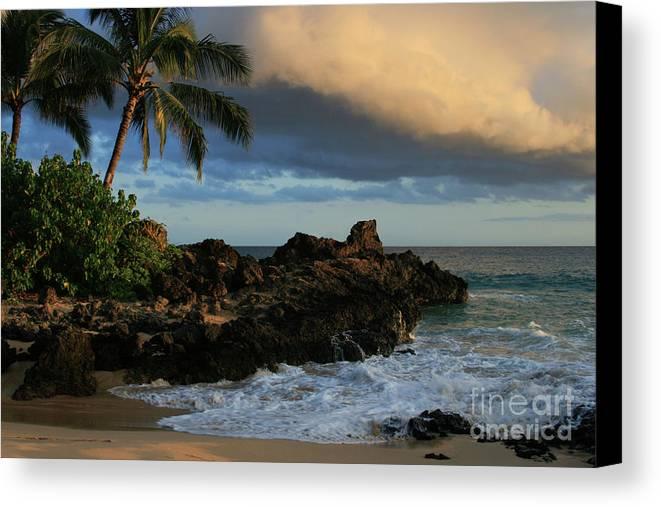 Beaches Canvas Print featuring the photograph Aloha Naau Sunset Paako Beach Honuaula Makena Maui Hawaii by Sharon Mau