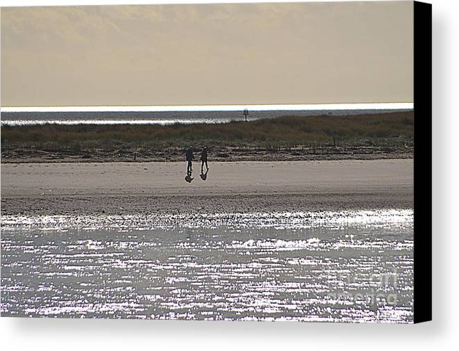 Beach Canvas Print featuring the photograph Alone On The Beach by Andy Thompson