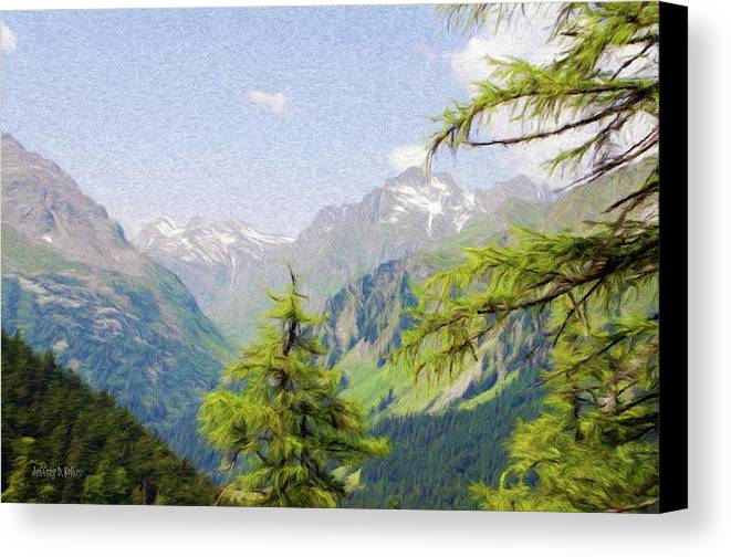 Alpine Canvas Print featuring the painting Alpine Altitude by Jeff Kolker
