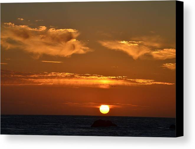 Sunsets Canvas Print featuring the photograph Amazing Sunset 251 by Remegio Dalisay