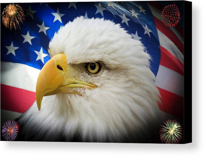 4th Of July Canvas Print featuring the photograph American Pride by Shane Bechler
