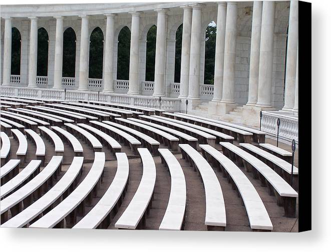 Amphitheatre Canvas Print featuring the photograph Amphitheatre by Vijay Sharon Govender