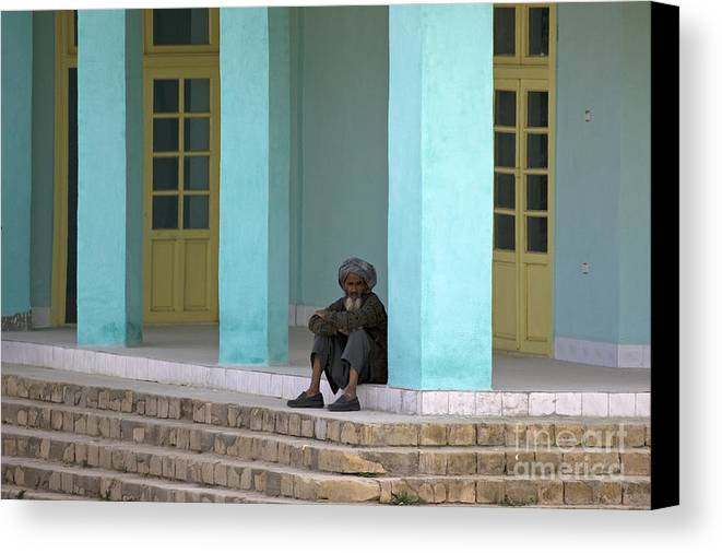 Man Canvas Print featuring the photograph An Afghan Man by Tim Grams