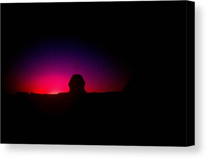 Sphinx Canvas Print featuring the photograph Ancient Evenings by Gary Wonning