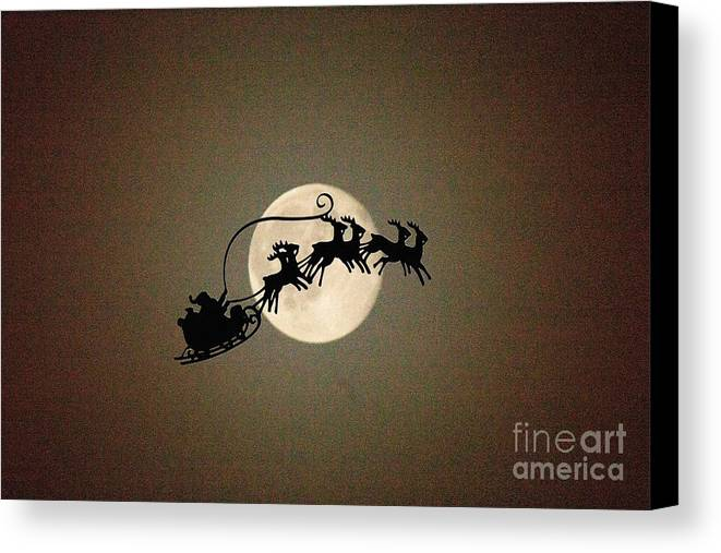 Christmas Canvas Print featuring the photograph And To All A Good Night by Howard Tenke
