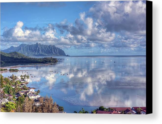 Hdr Canvas Print featuring the photograph Another Kaneohe Morning by Dan McManus