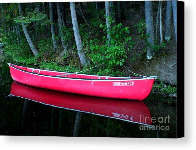 Canoe Canvas Print featuring the photograph Anticipation by Idaho Scenic Images Linda Lantzy