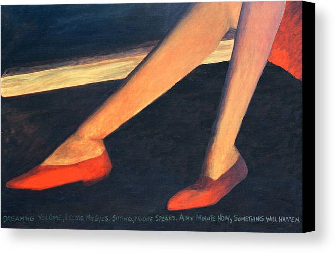 Dreamscape Canvas Print featuring the painting Any Minute by Perry Woodfin