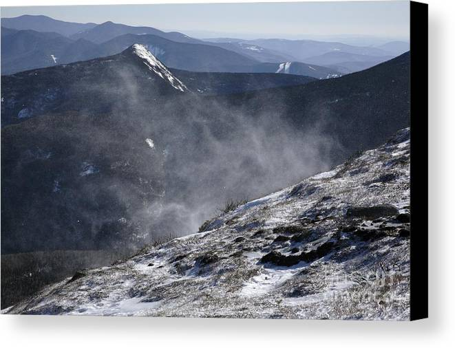 Franconia Ridge Canvas Print featuring the photograph Appalachian Trail - Franconia Ridge-white Mountains New Hampshire by Erin Paul Donovan