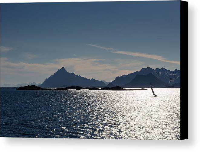 Islands Canvas Print featuring the photograph Approaching Lofoten by Claudio Bergero