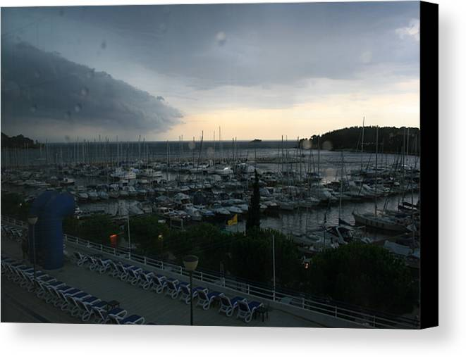 Approaching Storm Canvas Print featuring the photograph Approaching Storm by Andy Mercer