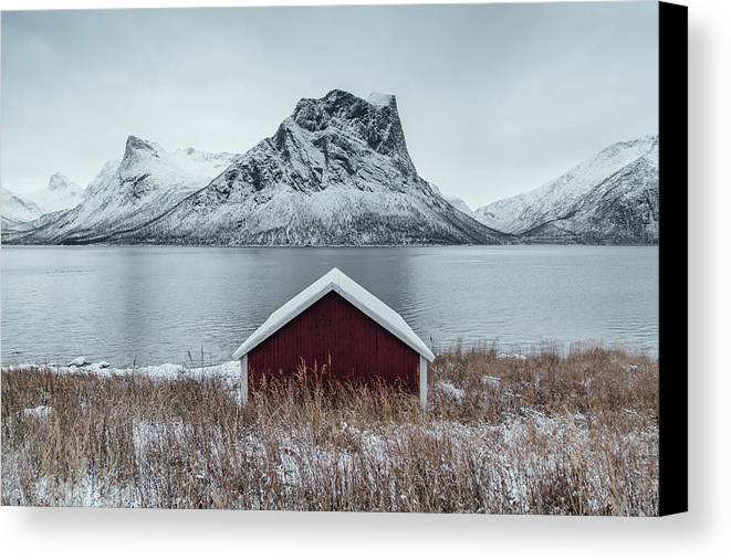 Trip Canvas Print featuring the photograph Arctic Landscape In Northern Norway, Senja by Aldona Pivoriene