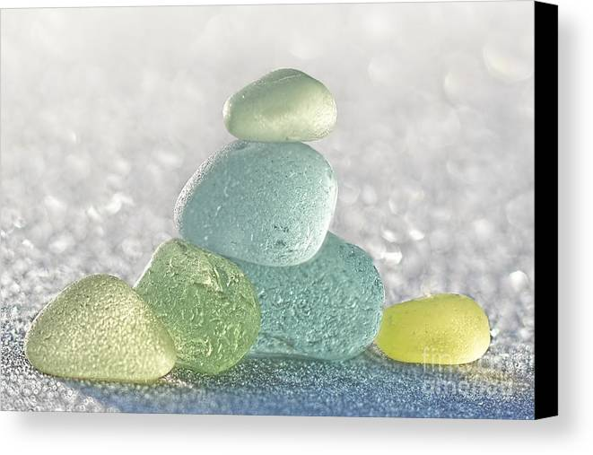 Sea Glass Canvas Print featuring the photograph Arctic Spring Sea Glass by Barbara McMahon
