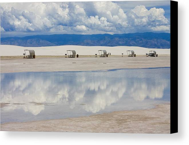 New Mexico Canvas Print featuring the photograph Armageddon Picnic by Skip Hunt