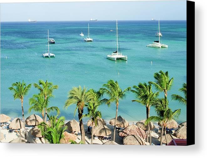 Aruba Canvas Print featuring the photograph Aruba Shore by Michael Clubb