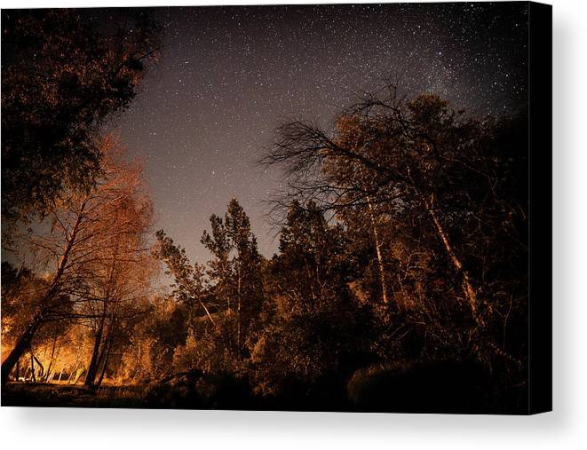 Fliproductions.com Canvas Print featuring the photograph Astrophotography - Sequoia Rv Ranch - California by Ryan Kelehar