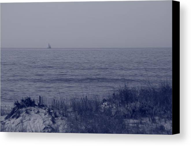 Sailboat Canvas Print featuring the photograph At Sea by Christopher Kirby