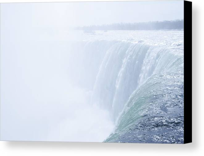 The Canvas Print featuring the photograph At The Edge Of Horseshoe Falls by Bill Cannon
