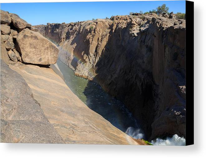 Africa Canvas Print featuring the photograph Augrabies Falls by Davide Guidolin