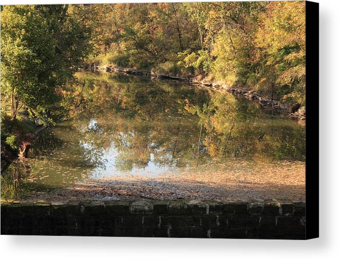 Landscape Canvas Print featuring the photograph Autumn Afternoon by Lone Dakota Photography