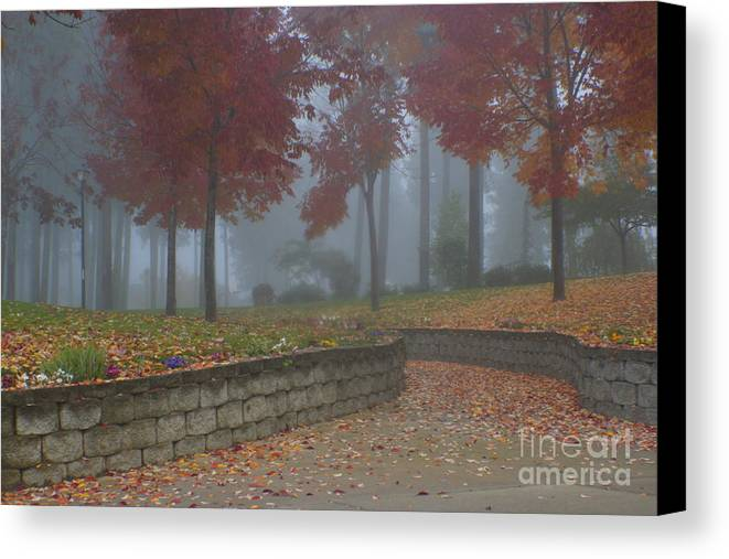 Autumn Canvas Print featuring the photograph Autumn Fog by Idaho Scenic Images Linda Lantzy