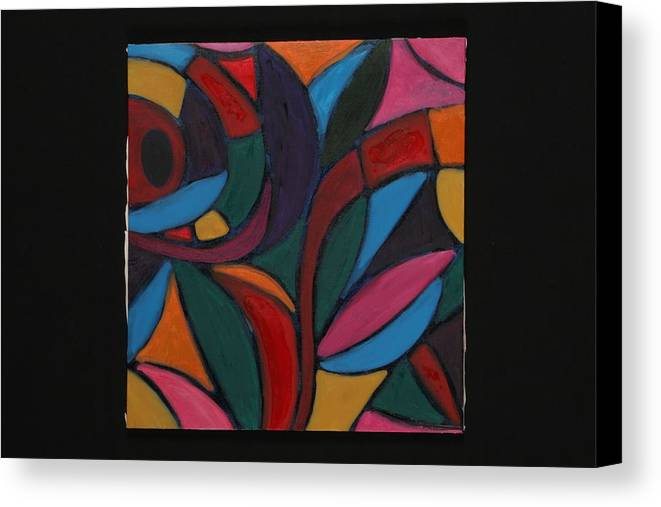 Abstract Canvas Print featuring the painting Autumn Light by Mary Silver