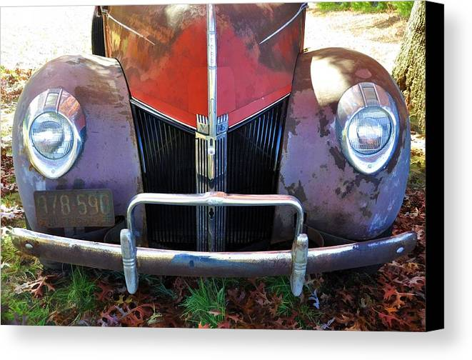 Vehicles Canvas Print featuring the photograph Autumn Smile by Jan Amiss Photography