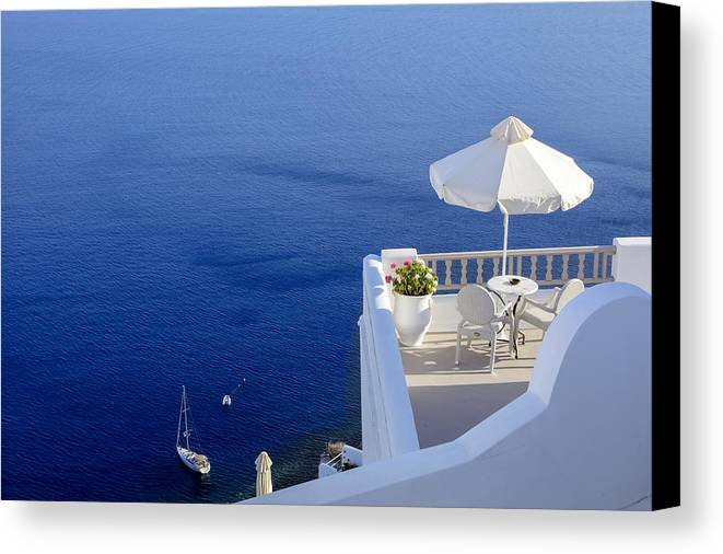 Balcony Canvas Print featuring the photograph Balcony Over The Sea by Joana Kruse