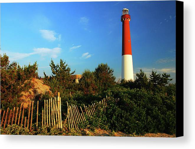 Barnegat Canvas Print featuring the photograph Barnegat Light by James Kirkikis