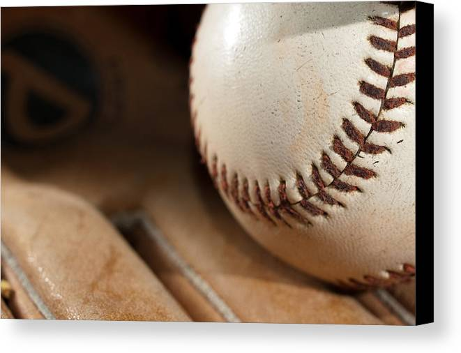Baseball Canvas Print featuring the photograph Baseball by Felix M Cobos