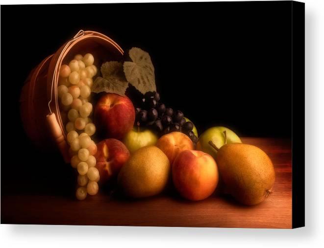 Fruit Canvas Print featuring the photograph Basket Of Fruit by Tom Mc Nemar