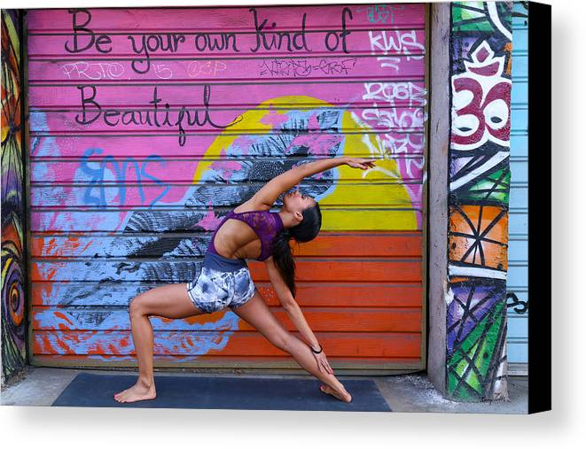 Yoga Canvas Print featuring the photograph Be Your Own Kind Of Beautiful by George Hobbs