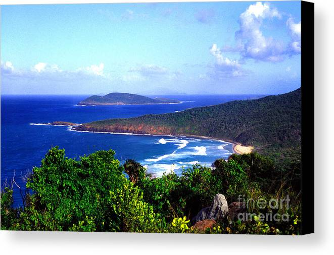 Culebra Canvas Print featuring the photograph Beach And Cayo Norte From Mount Resaca by Thomas R Fletcher