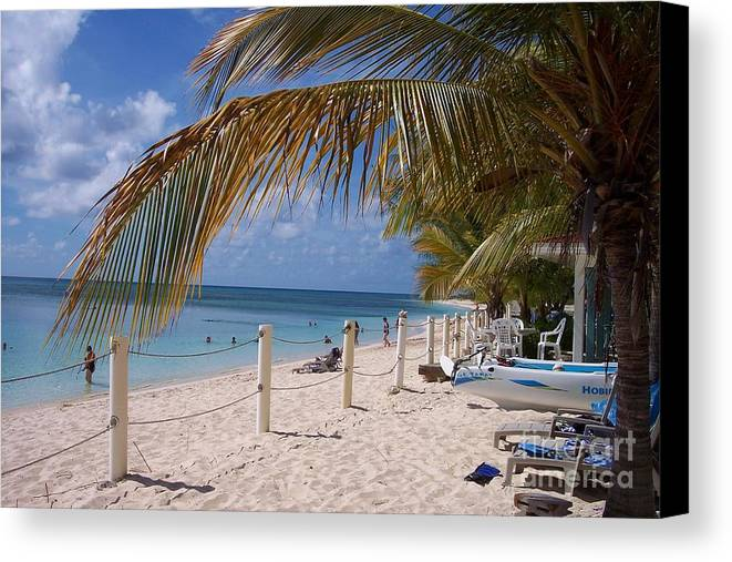 Beach Canvas Print featuring the photograph Beach Grand Turk by Debbi Granruth